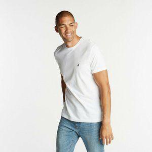 Nautica White Short Sleeve Men's T-Shirt NEW